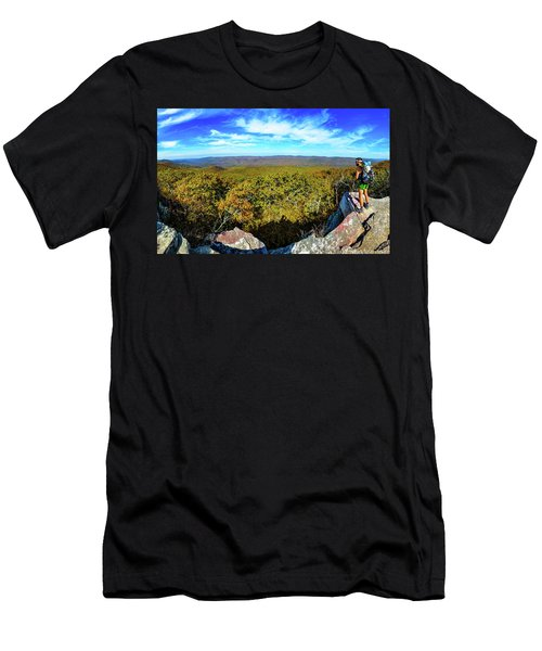 Wind Rock Panorama Men's T-Shirt (Athletic Fit)