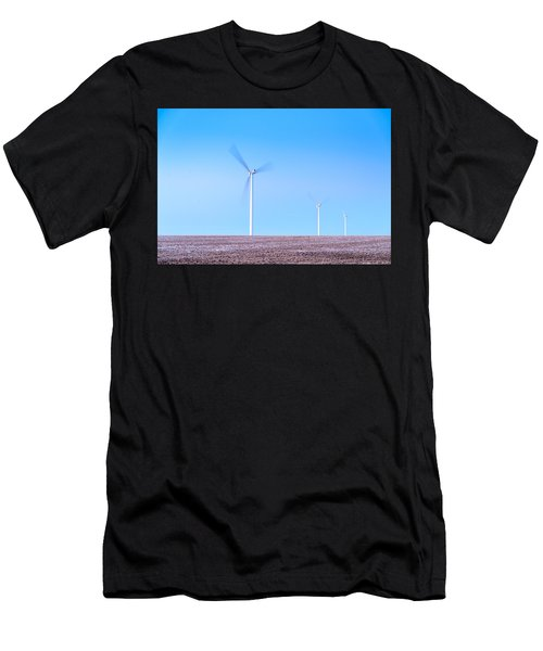 Wind Turbines Men's T-Shirt (Athletic Fit)