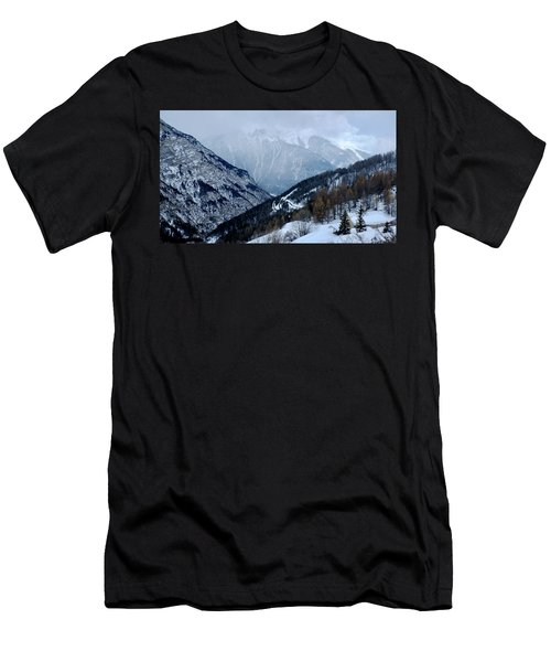 Men's T-Shirt (Athletic Fit) featuring the photograph Winding Road In The Alps by August Timmermans