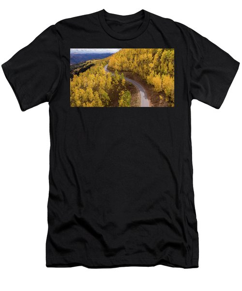 Men's T-Shirt (Athletic Fit) featuring the photograph Winding Through Fall by Wesley Aston