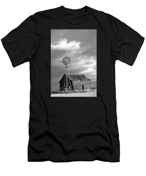 Windmill And Barn At Sunset Men's T-Shirt (Athletic Fit)