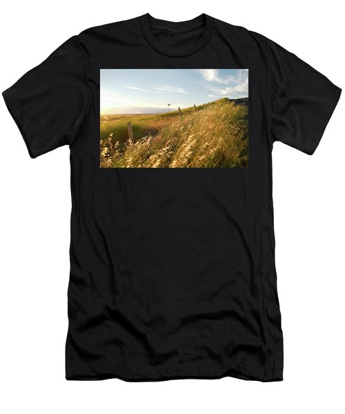 Windmill And The Fence Sundown Men's T-Shirt (Athletic Fit)
