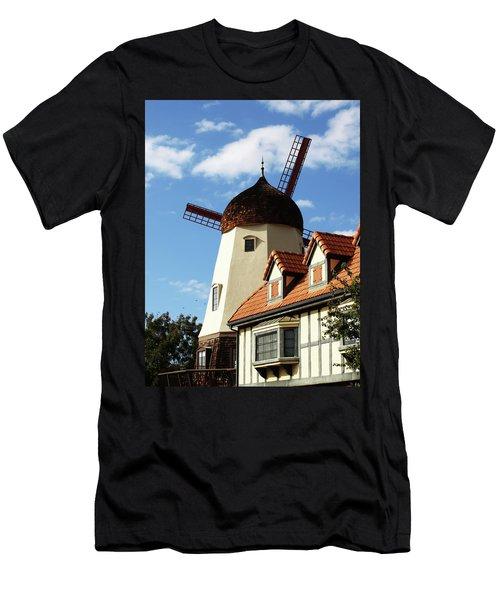 Windmill At Solvang, California Men's T-Shirt (Athletic Fit)