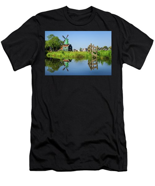 Windmill Reflection Men's T-Shirt (Athletic Fit)