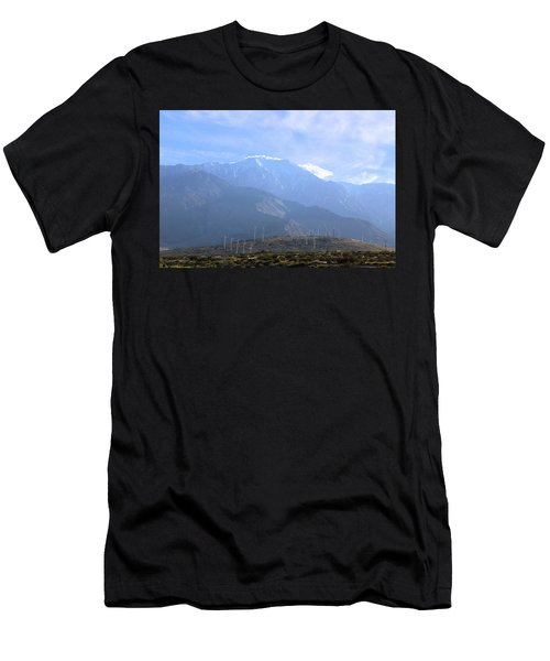 Windmills At San Jacinto Mt Men's T-Shirt (Athletic Fit)