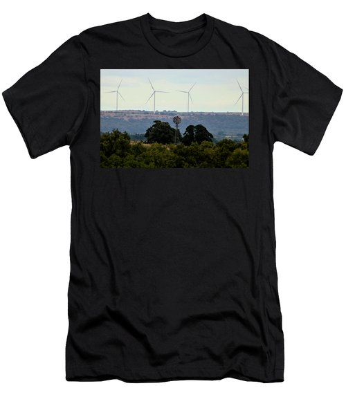 Men's T-Shirt (Athletic Fit) featuring the photograph Windmills Old And New by Sheila Brown