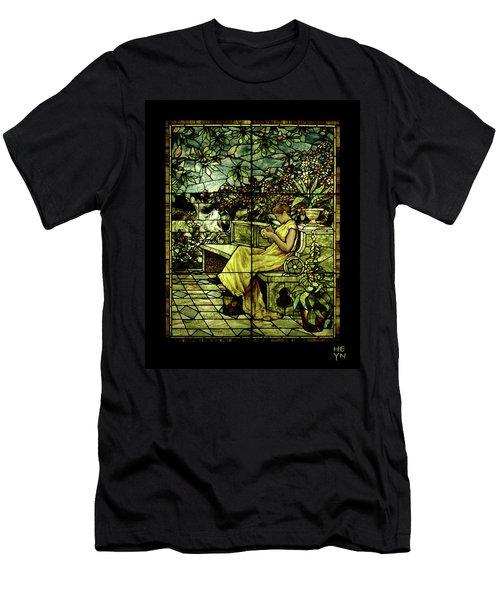 Window - Lady In Garden Men's T-Shirt (Slim Fit) by Shirley Heyn