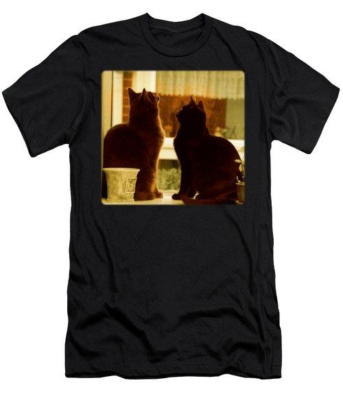 Window Cats Men's T-Shirt (Athletic Fit)