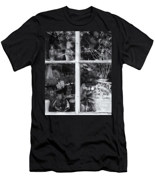 Window In Black And White Men's T-Shirt (Athletic Fit)