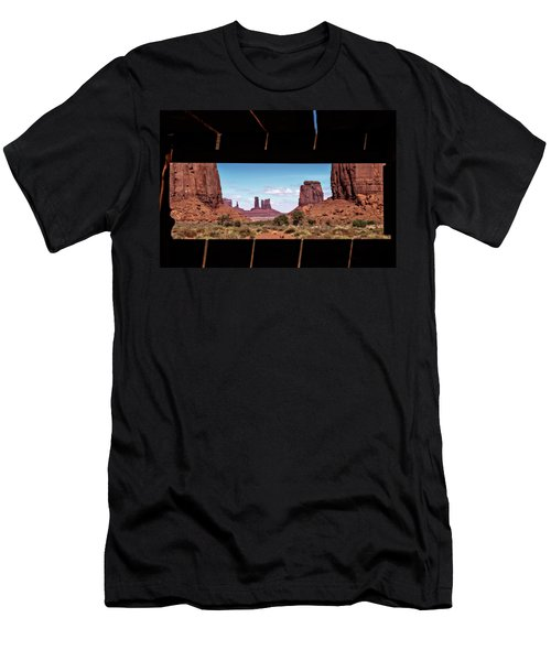 Window Into Monument Valley Men's T-Shirt (Athletic Fit)