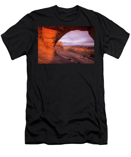 Men's T-Shirt (Athletic Fit) featuring the photograph Window To Arch by Wesley Aston