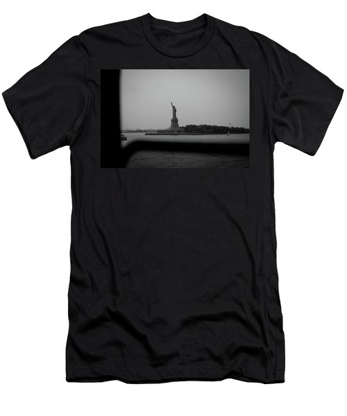 Window To Liberty Men's T-Shirt (Slim Fit) by David Sutton