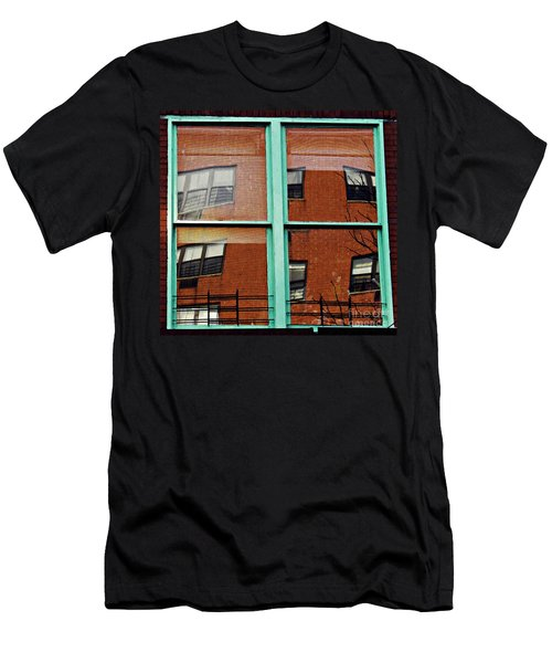 Windows In The Heights Men's T-Shirt (Slim Fit) by Sarah Loft