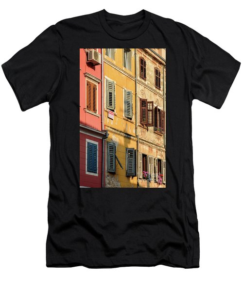 Windows Of Rovinj, Istria, Croatia Men's T-Shirt (Athletic Fit)