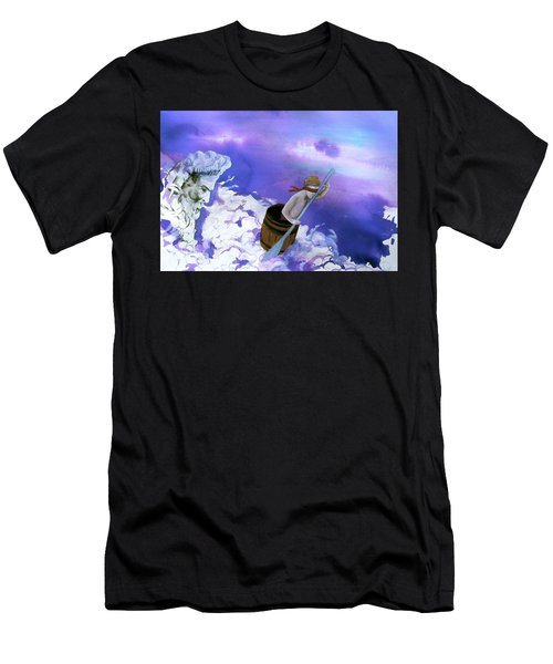 Men's T-Shirt (Athletic Fit) featuring the painting Winds Of Fate  by Rene Capone