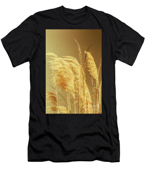 Windswept Autumn Brush Grass Men's T-Shirt (Athletic Fit)