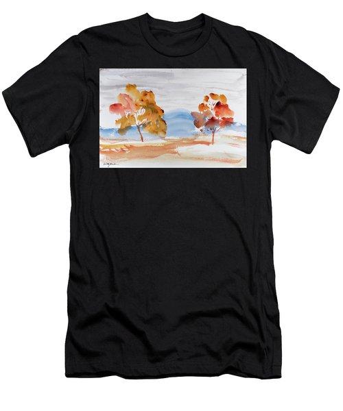 Windy Autumn Colours  Men's T-Shirt (Athletic Fit)