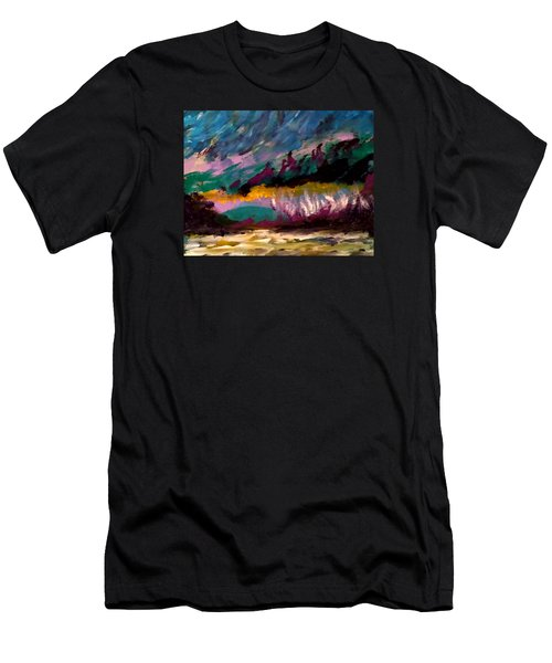 Windy Day On Gulf Islands Men's T-Shirt (Athletic Fit)