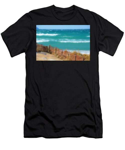 Windy Day On Lake Michigan Men's T-Shirt (Athletic Fit)
