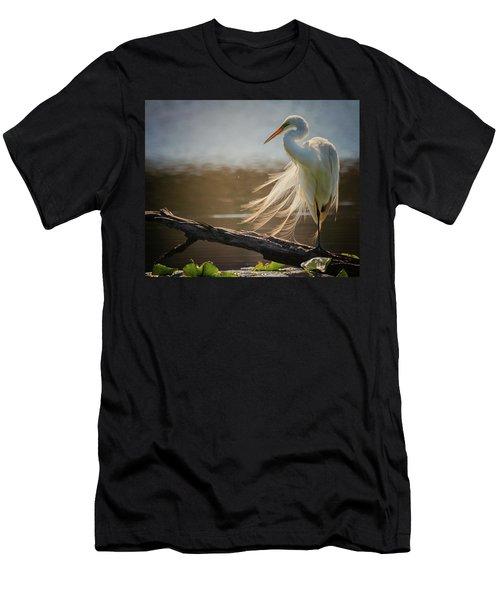 Windy Egret  Men's T-Shirt (Athletic Fit)