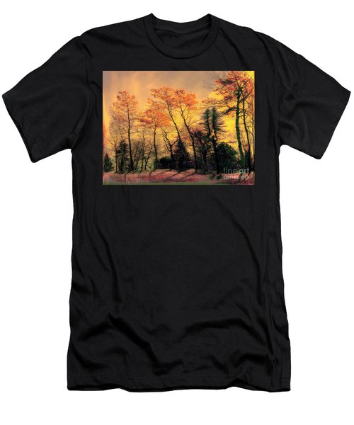 Men's T-Shirt (Slim Fit) featuring the photograph Windy  by Elfriede Fulda