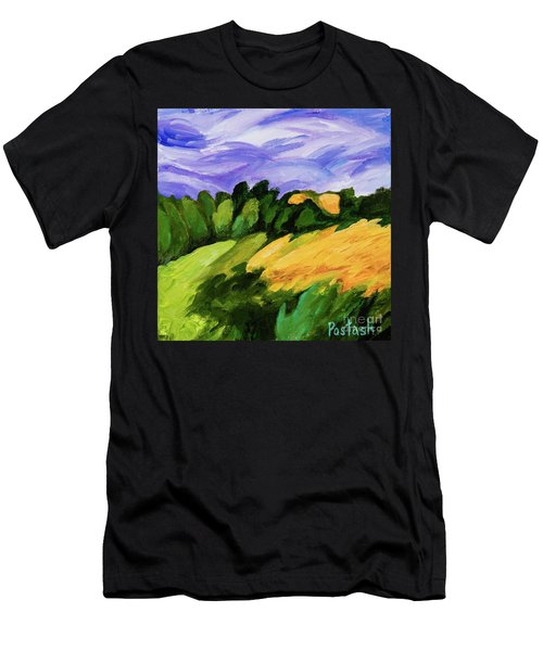 Men's T-Shirt (Slim Fit) featuring the painting Windy by Igor Postash