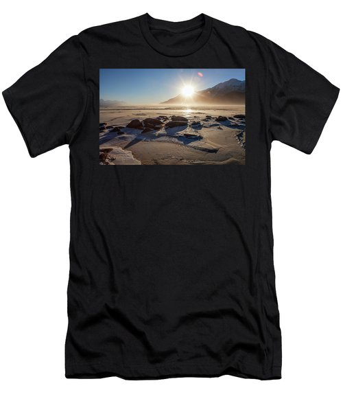 Windy Winter Sunset Men's T-Shirt (Athletic Fit)