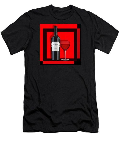 Men's T-Shirt (Slim Fit) featuring the digital art Wine Anyone-1 by Nina Bradica