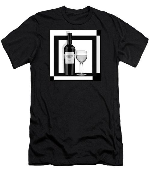 Men's T-Shirt (Slim Fit) featuring the digital art Wine Anyone by Nina Bradica