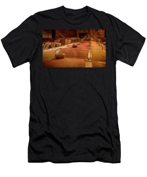 Wine Barrels Men's T-Shirt (Athletic Fit)