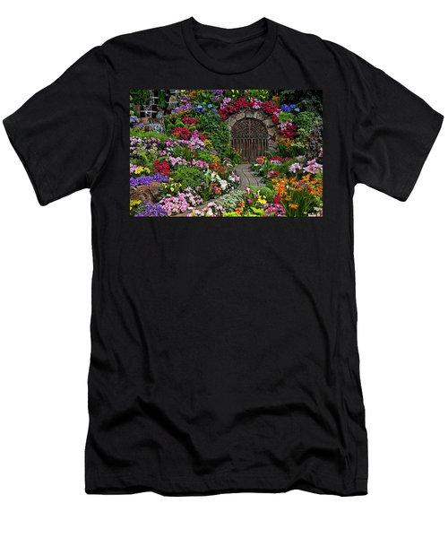 Wine Celler Gates  Men's T-Shirt (Slim Fit) by Garry Gay