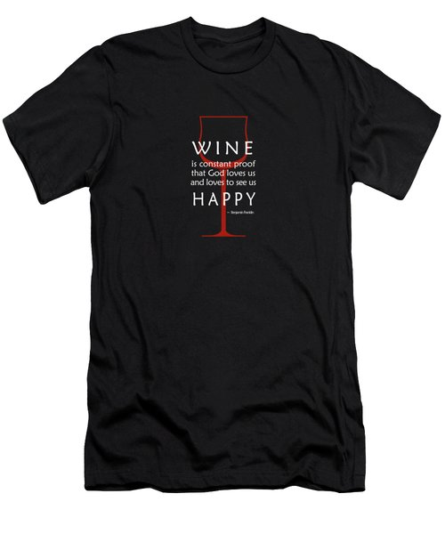 Wine Glasses 2 Men's T-Shirt (Slim Fit) by Mark Rogan