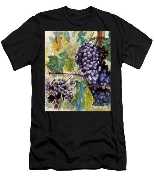 Wine Grapes Men's T-Shirt (Slim Fit) by William Reed