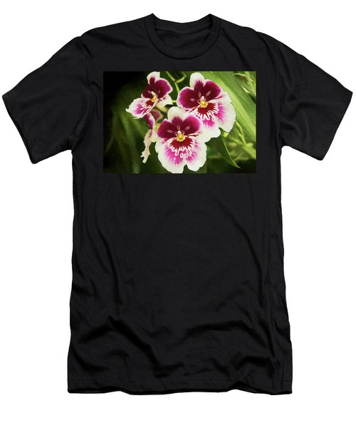 Men's T-Shirt (Athletic Fit) featuring the photograph Wine Orchids- The Risen Lord by Penny Lisowski
