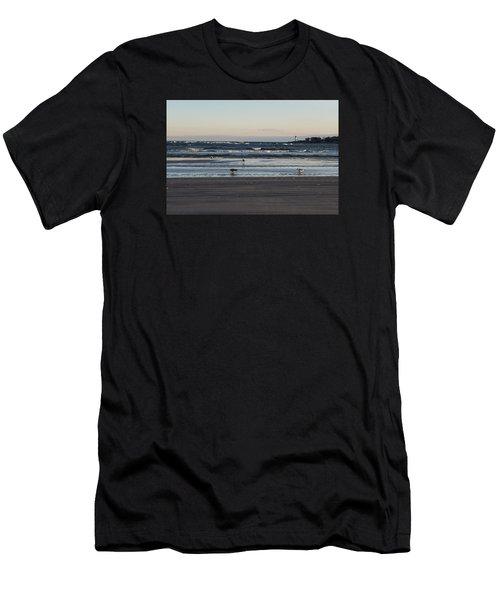 Wingaersheek Beach Seagulls At Sunrise Men's T-Shirt (Athletic Fit)