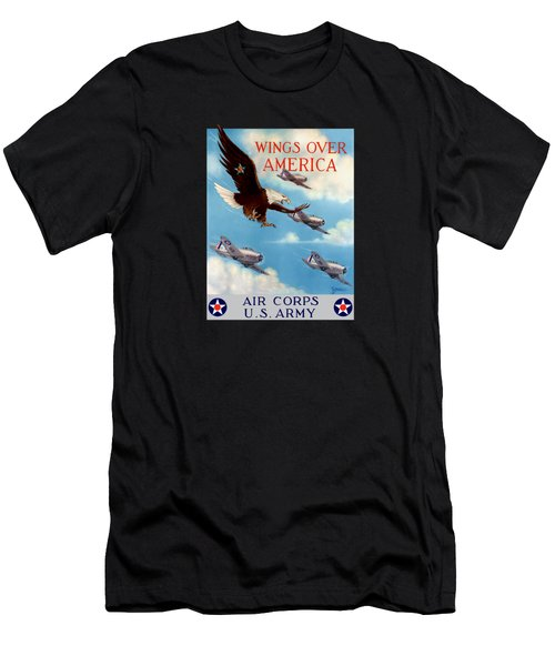 Wings Over America - Air Corps U.s. Army Men's T-Shirt (Athletic Fit)