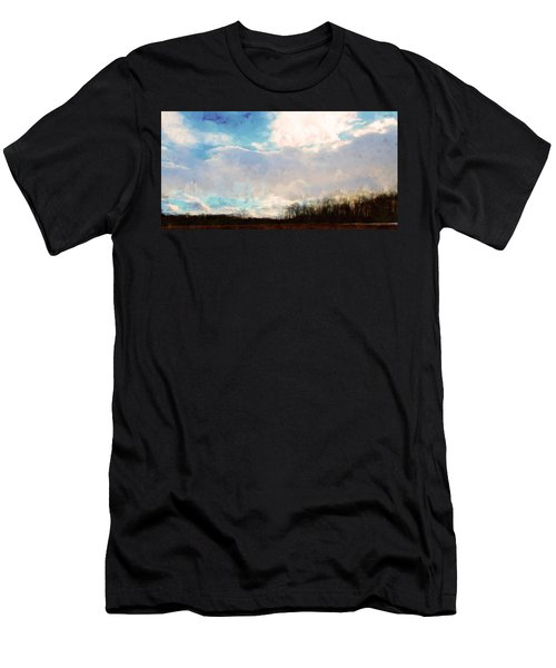 Winter Afternoon Sky Men's T-Shirt (Athletic Fit)