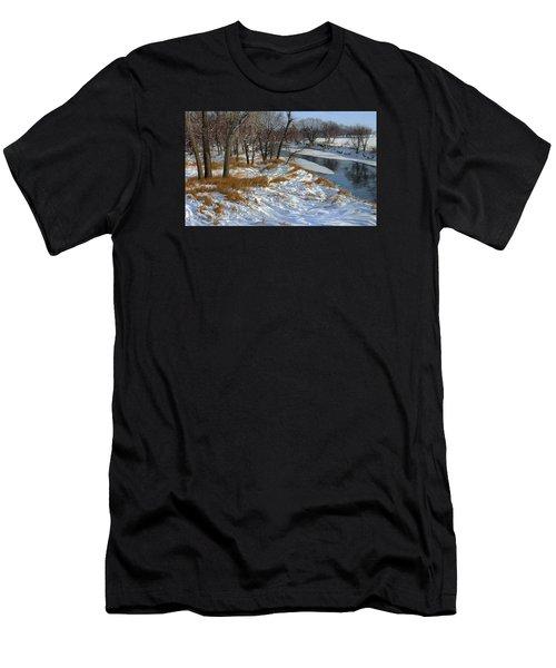Winter Along The Little Sioux Men's T-Shirt (Athletic Fit)