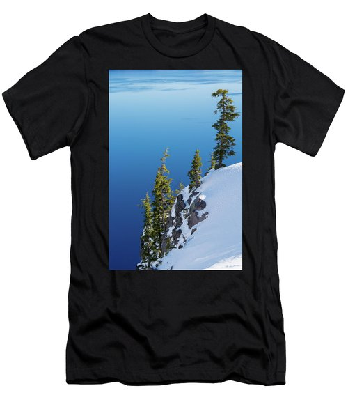 Winter At Crater Lake Men's T-Shirt (Athletic Fit)