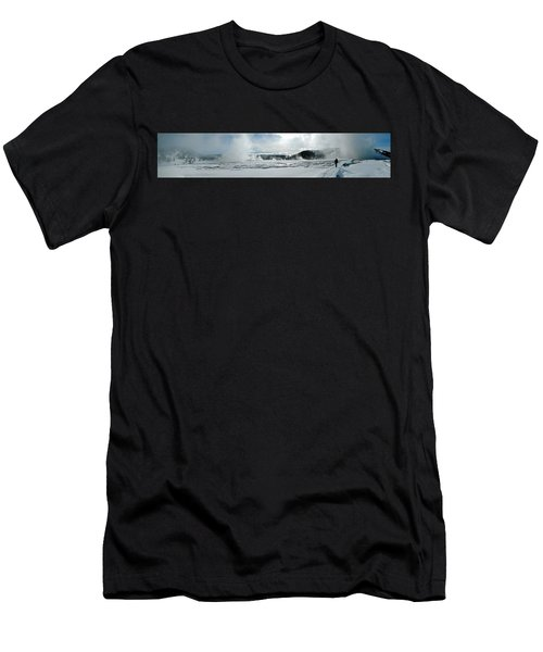 Winter At Grand Prismatic Men's T-Shirt (Athletic Fit)