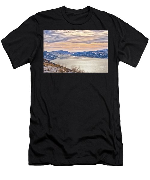 Winter At Horsetooth Reservior Men's T-Shirt (Athletic Fit)