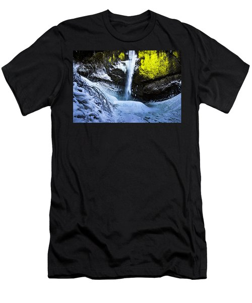 Winter At Latourell Falls Men's T-Shirt (Athletic Fit)