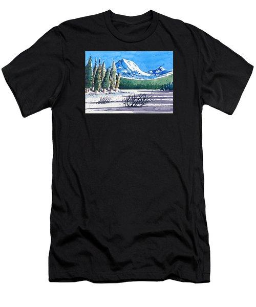 Winter At Mt. Lassen Men's T-Shirt (Athletic Fit)