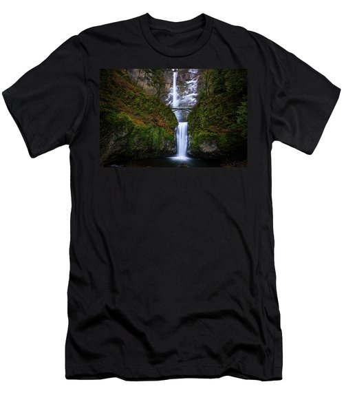 Winter At Multnomah Falls Men's T-Shirt (Athletic Fit)