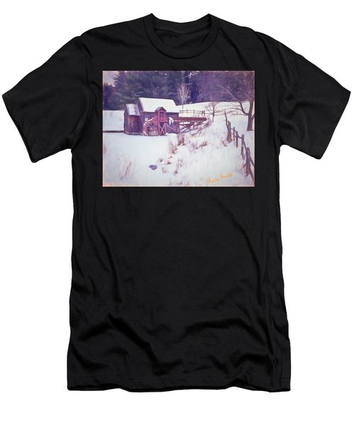 Winter At The Gristmill. Men's T-Shirt (Athletic Fit)