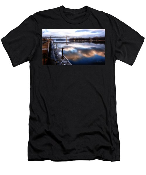 Winter At The Levee Men's T-Shirt (Athletic Fit)