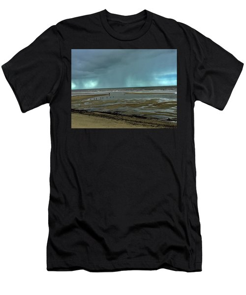 Men's T-Shirt (Athletic Fit) featuring the photograph Winter Beach by Debbie Cundy