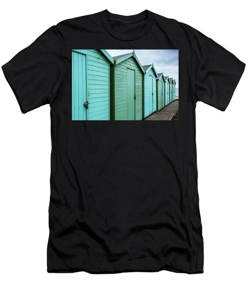 Winter Beach Huts IIi Men's T-Shirt (Athletic Fit)