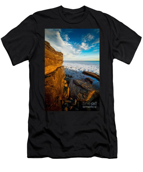 Winter Beach Sunset Men's T-Shirt (Athletic Fit)