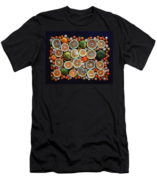 Winter Citrus Mosaic Men's T-Shirt (Athletic Fit)
